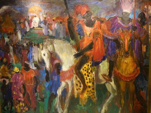 A Royal procession ,Paul HANNAUX, circa 1930 LA CREDENCE ANTIQUE DEALER PARIS