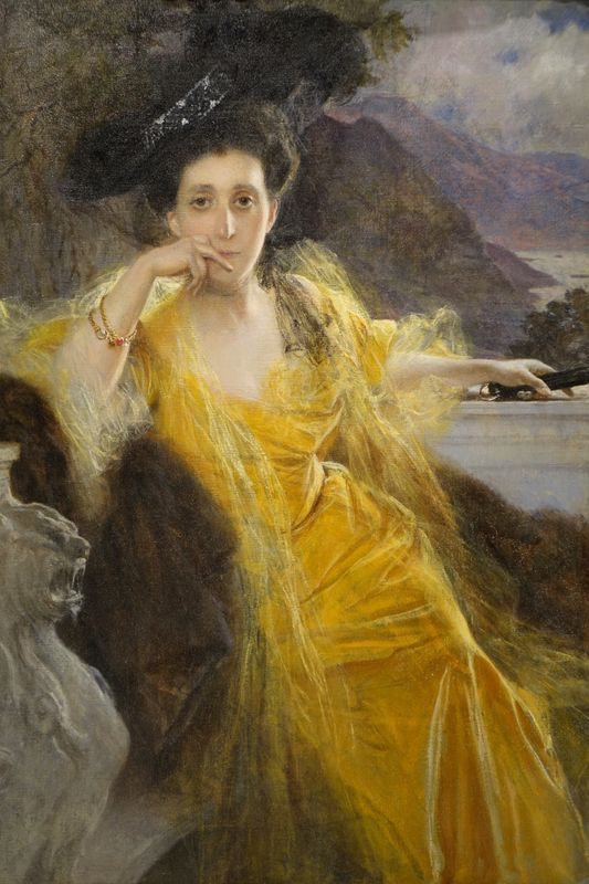 Portrait of Mrs FOULD, Francois FLAMENG (1856-1923) la credence antique store paris
