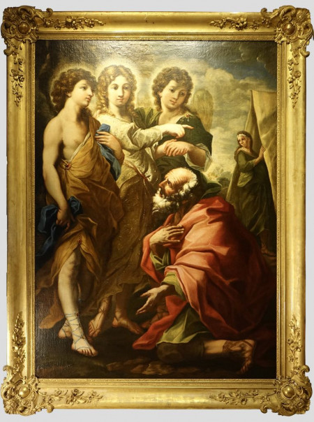 tableau abraham et les anges 1antiquites la credence paris