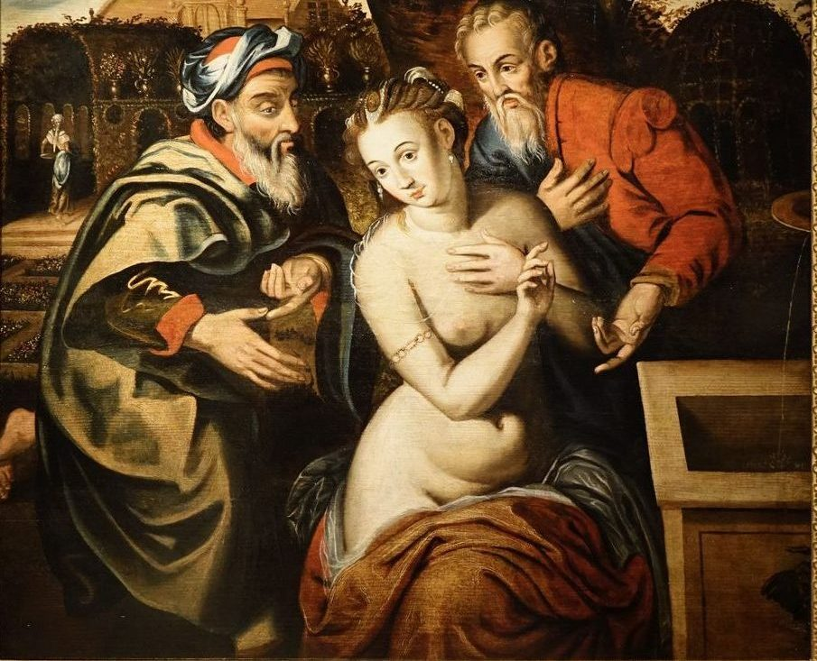 Susanna and the Elders Antwerp circa 1580 LA CREDENCE antique dealer paris