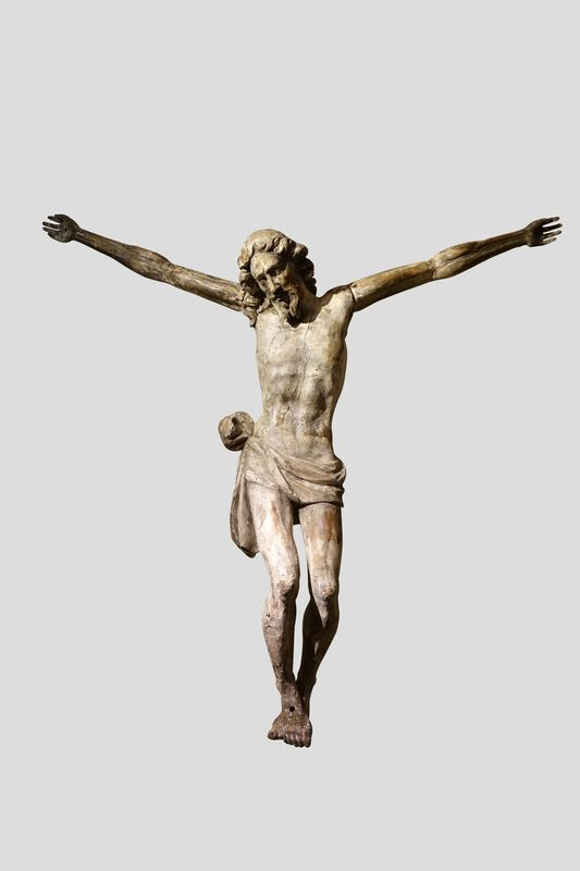 Sculpture Grand Christ Italie 17e 1 La Credence Antiquaire A Paris