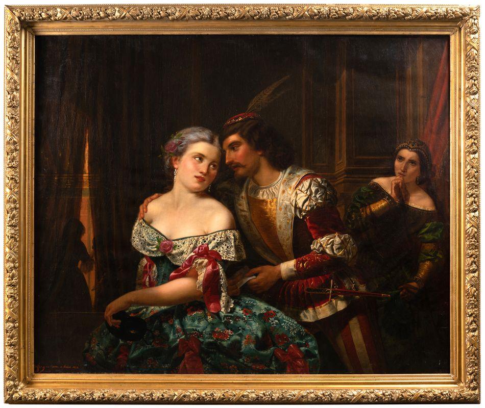 Tableaux Carnaval De Venise Signe Guffens 1 La Credence Antiquaire A Paris