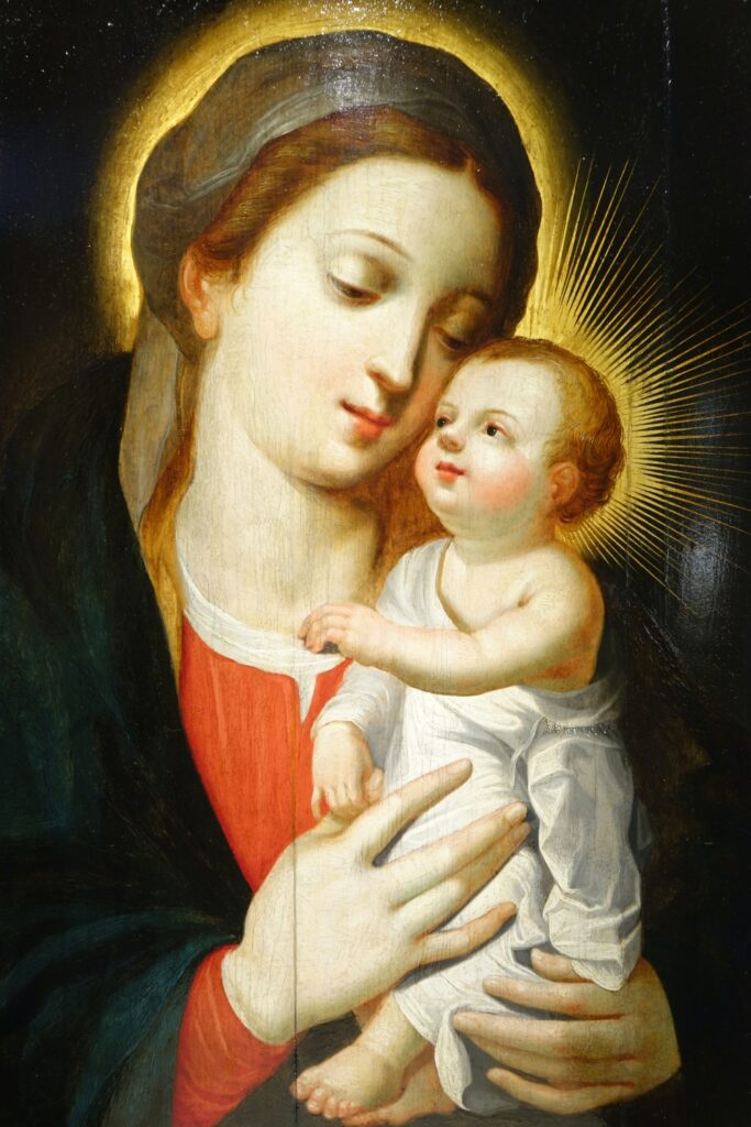 Virgin and Child, Northern France or Flanders, 17th century la credence antique dealer paris