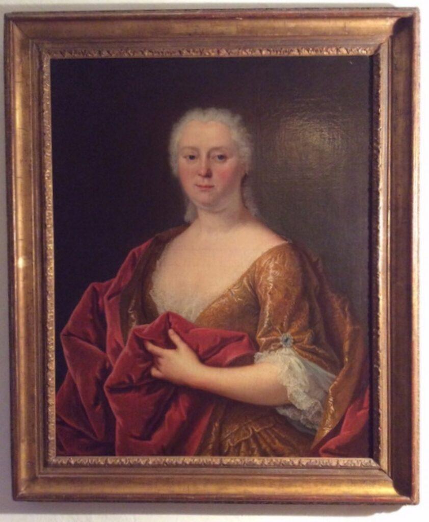 Presumed Portrait of the Princess Palatine, France 18th Century la credence antique store paris