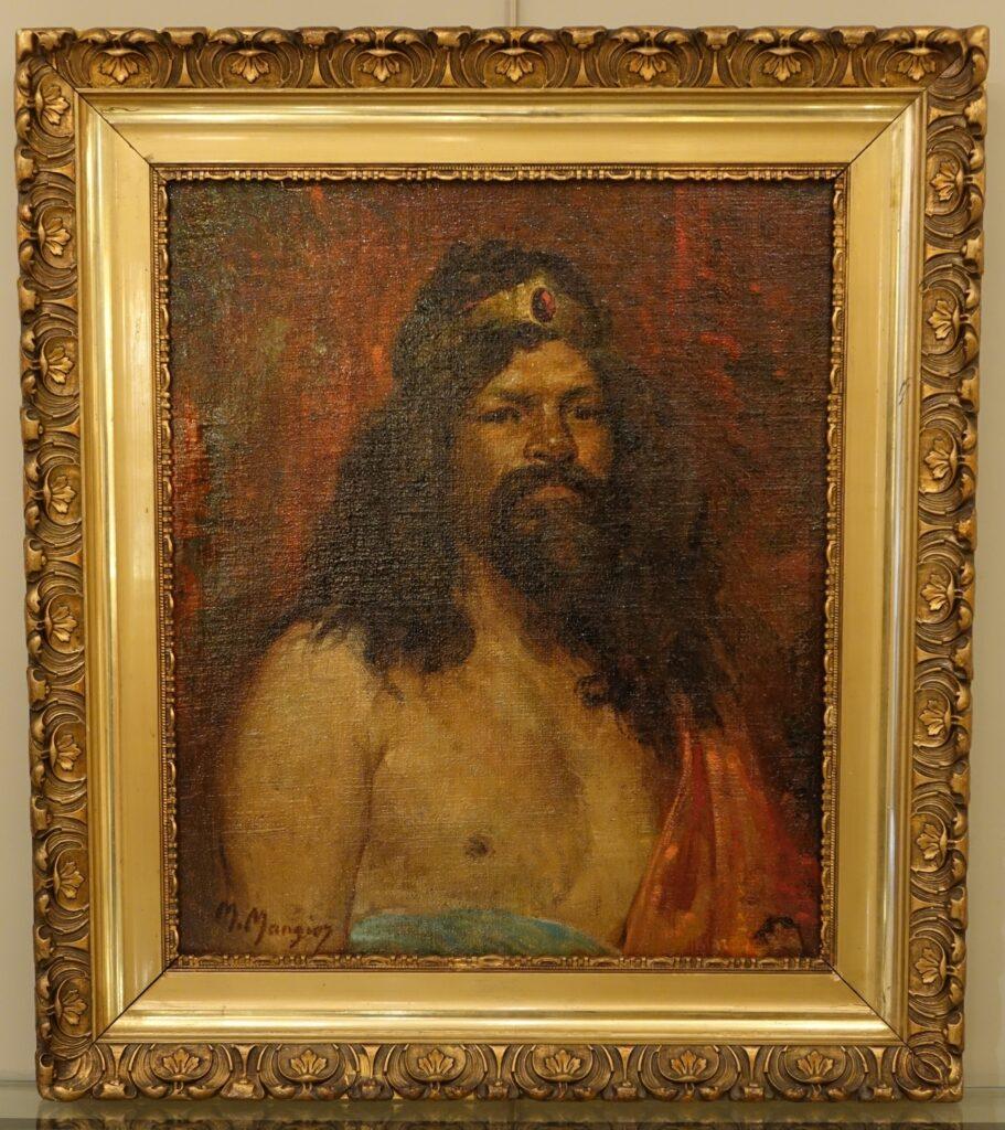 Portrait signed Marius MANGIER (1867-1952)la credence paris antique furniture
