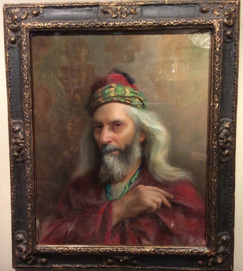 Portrait of Ephraim - Pastel signed SAIZEDE 1923 la credence antiques paris
