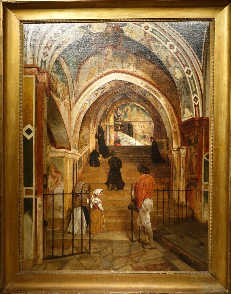 Interior of the convent of San Benedetto, A.de Boisricheux (1802-1847) la credence antiques paris