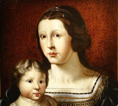 Painting representing Virgin and Child Flemish 17th century antique dealer la credence paris