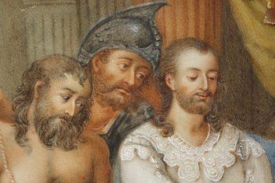 Tableau Gouache du 18e siècle Antiquités la Crédence Antiquaire Paris