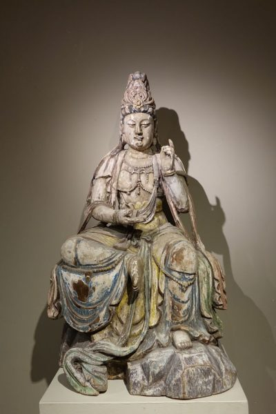Guanyin, the Chinese Form of the Bodhisattva, Ming Style, China, 19th Century antique dealer la credence paris