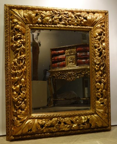 Carved and giltwood mirror, France 18th century la credence antiques paris