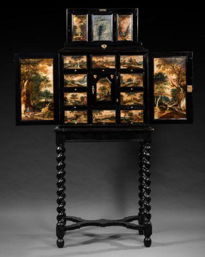 Mobilier Cabinet a peinture anversois Flandres 17e siecle 02