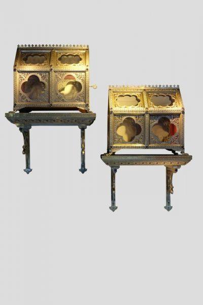 Reliquary caskets by H.E. LESAGE, circa 1890