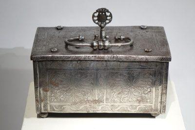 Polished and Engraved Iron Case, Nuremberg 16th Century