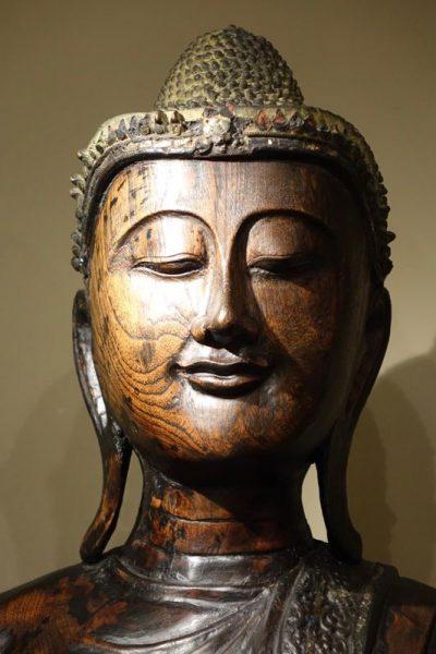 Sculpture Burma Bouddha antique dealer la credence paris