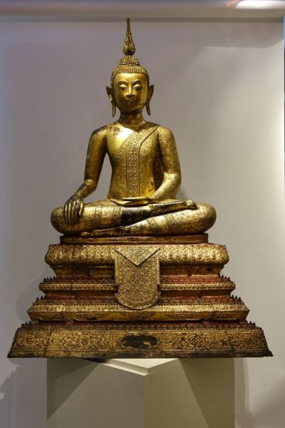 Sculpture Bouddha Ratanakosin 12 La Credence Antiquaire A Paris