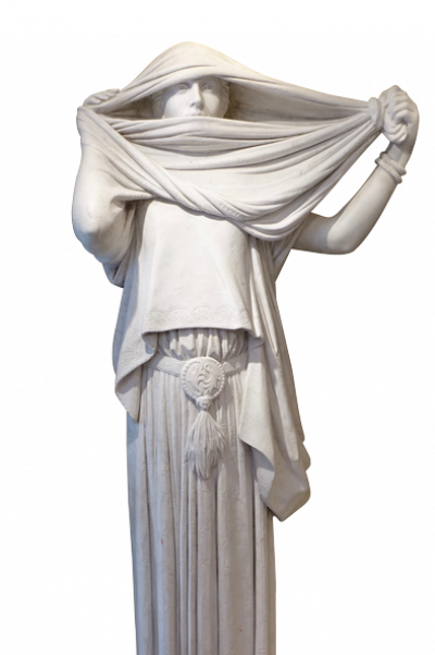 Marble Statue the Woman with a Veil after Jean Louis Gerome