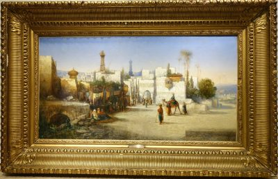 Painting  View from Cairo - A Visconti circa 1850 la credence antiques paris