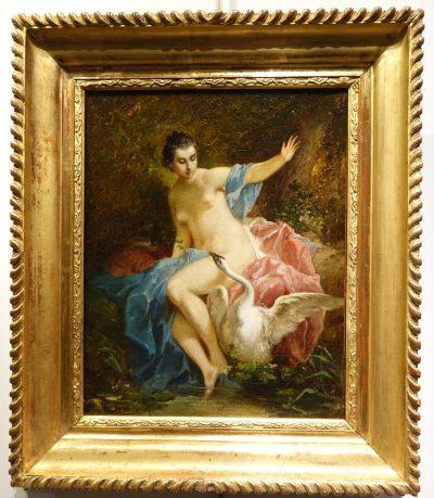 Leda and the Swan - F. LANFANT de METZ (1814-1892)
