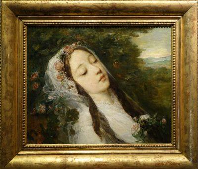 Ophélia , oil on canvas, Louis Gustave RICARD (1823-1873) LA CREDENCE ANTIQUES PARIS