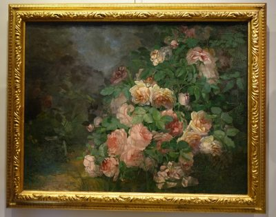 TABLEAUX NATURE MORTE BUISSON DE ROSE 2 LA CREDENCE ANTIQUAIRE PARIS 1