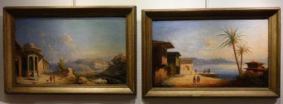 Pair Of Orientalist Paintings, Monogrammed, Dated 1859