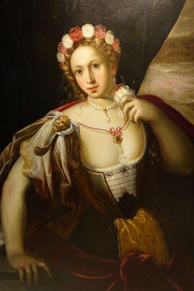 Tableau huile sur panneau Venise 16e siecle