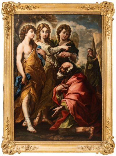 Tableaux ABRAHAM ET LES 3 ANGES 1 antiquites la credence paris