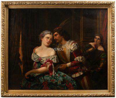 Tableaux Carnaval De Venise Signe Guffens 1 La Credence Antiquaire A Paris 1 3
