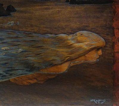 huile sur panneau signé Henri Rapin antiquités la credence paris