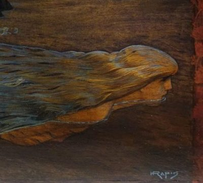 oil on panel signed Henri Rapin antique dealer la credence paris