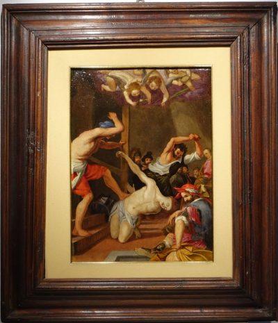 Tableaux Cuivre Martyr Italie 16 Siecle 10 La Credence Antiquaire A Paris