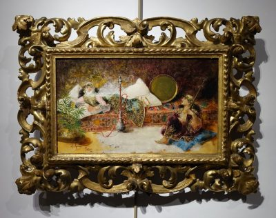 Orientalist scene, oil on panel A.RIVAS( 1845-1911) la credence antiques paris