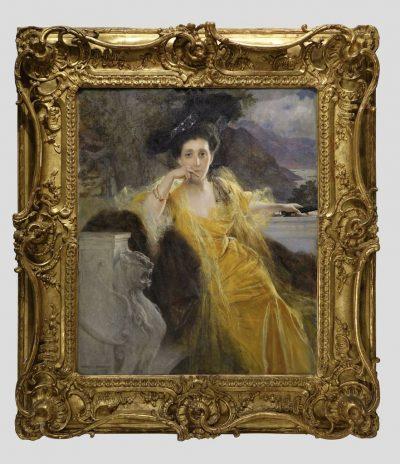tableau portrait Francois Flameng 1antiquites la credence paris